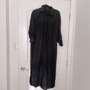 Spense button down maxi black dress, size 8